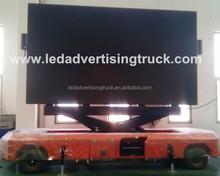 Fold design led big screen trailer,led moving billboards media trailer,lifting display screen trailer