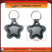 Promotional access control Rfid Leather Key tag