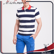 blue and white stripe men's polo and t-shirts wholesale from guangzhou