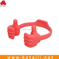 Funny hand silicone mobile phone holder for desk