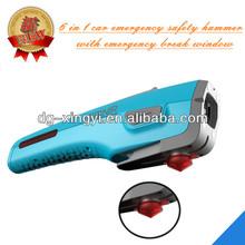 ledcore 4-in-1 portable car emergency hammer for window breaking and lighting,bus emergency hammer,welding chipping hammer