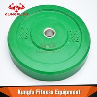 Coloured Olympic Rubber weights green