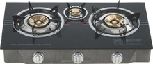 JK-701P auto ignition 3 burners tempered glass gas stove