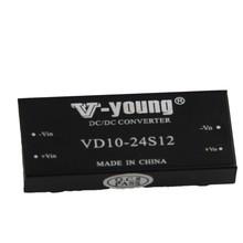 Input 24V,output12V, single output 10W dc dc converter