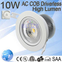 Wholesale 5 years warranty cob led downlight High Power 10W Dimmable led downlight