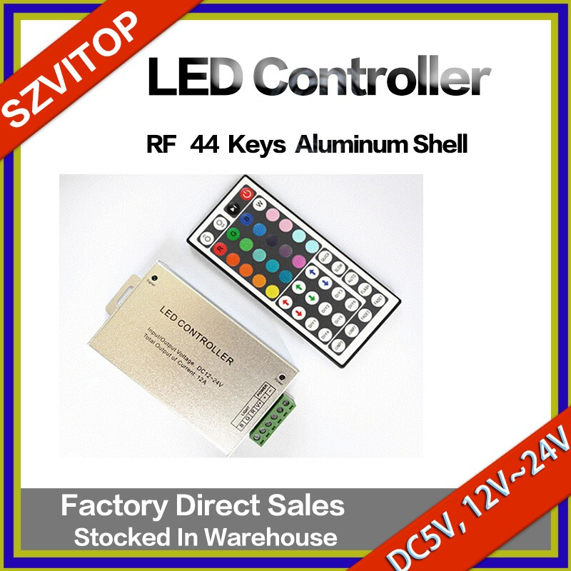 RF LED Light Strip Remote Controller Aluminum Case/Shell 44Keys DC5V,12V,24V JM-RFL44