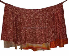 Authentic Manufacturer of Vintage Silk Saree Sari Wrap round Skirt Long Length