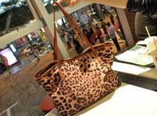 New designer women handbags hot sale lady bags vintage cowhide leopard grain bag real PU leather women casual handbag