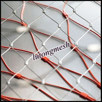 Stainless steel rope mesh price,decorative metal fence