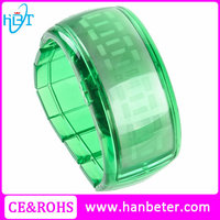The oled wrist watch clock digital finger ring watch with band charms