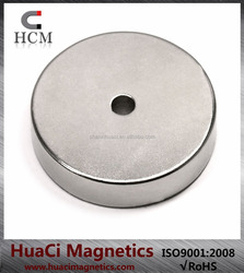 "strong large magnet Neodymium ring Magnet N42 OD2""x ID1/4""x 1/2"" NdFeB Rare Earth Magnet"