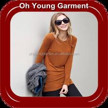 Custom long sleeve round neck pima cotton t shirt wholesale online shopping