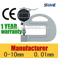 10mm 100mm throat 0.001mm digital plastic film thickness gage with roller insert