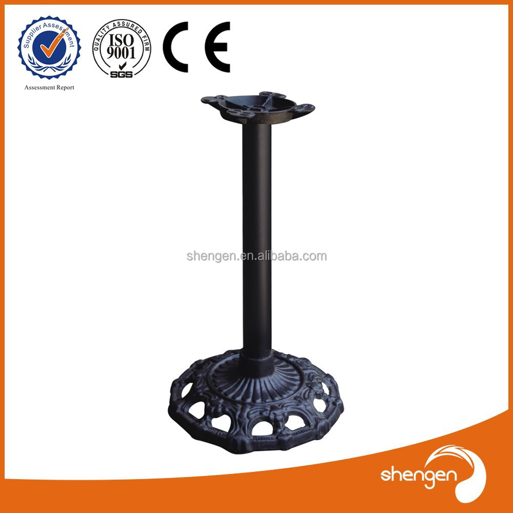 Fleur base en fonte pied de table en fer forg support for Table fer forge exterieur