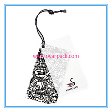 custom printing paper swing hang tags for garment clothes