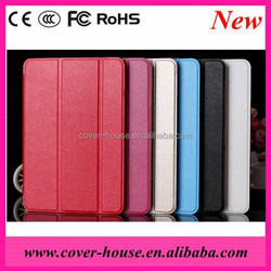 Wholesale Wake up Function Leather case for iPad Mini 3 Triple Kickstand case 6 colors available