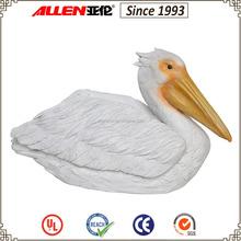 """11.6"""" large white pelican resin statue for garden, resin bird decoration for garden pool"""