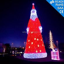 Hot Sale Holiday Decoration 3D LED Motif Light Christmas Santa Claus for Christmas