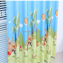 2015 strong and high quality sky blue dyed sponge bob printed twisted baby loved curtain fabric
