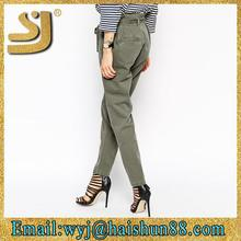 european style lady pockets pants ,sexy hot pants formal pants for girls