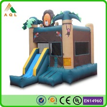 PVC tarpaulin inflatable toys jungel used adult baby bouncer for sale