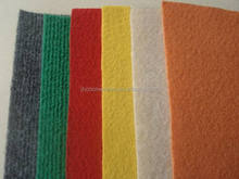 Luxury handmade colorful wool striped needle felt carpet