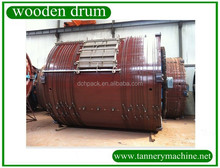 wooden drum vegetable tanned leather bags supplier
