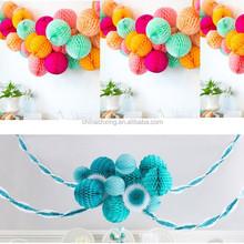 "4"" 6"" 8"" 10"" 12"" Honeycomb Balls Tissue Paper Lanterns Table Centrepiece Garland for sale"