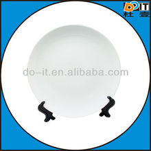 direct sales high-end decal white ceramic plate