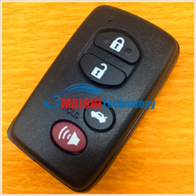 car key cover for toyota camry land cruise prado 3+1button oem remote key shell smart key without uncut small key best quality