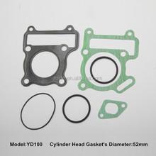 factory supply YD100 motorcycle full gasket ,flat exhaust gasket