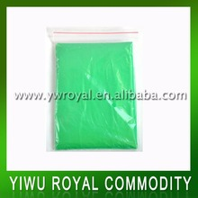 Green Disposable Waterproof Breathable Poncho