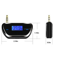 3.5mm jack fm transmitter in Car MP3 Player for iphone Smartphone