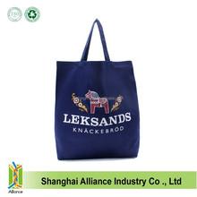 Cheap Organic Cotton Blue Tote Bag With Customed LOGO,Women Portable Cotton Shopping Bag