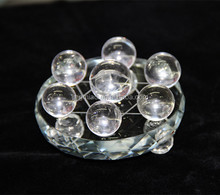 Clear Crystal Balls on Star of David Crystal Base fengshui ball