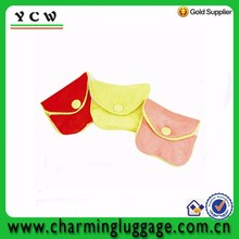Button and zipper closure custom size chinese silk jewellery pouch