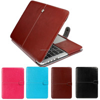 New arrival book style leather laptop cover case for Macbook Air Pro