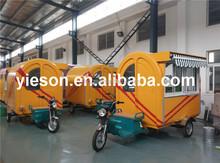 Three Wheel Electric Car With Food Box Cart
