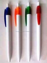 Simple Pen Plastic Cheaper White Pen Bic Pen With Custom Logo