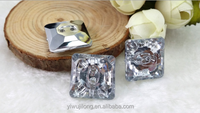 2015 new High quanlity Square has eyes acrylic buttons to supply all kinds of big development high-end clothing buttons