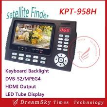 Unique 4.3Inch Full HD Digital Satellite Finder Meter KPT-958H MPEG4 DVB-S2 Sat Finder HD Signal with LED Backlight Keyboard