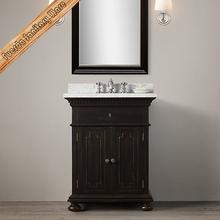28 Inch Solid Wood Bathroom Cabinet, Free Standing Storage Sink Vanity with Mirror Modern Bathroom Vanity