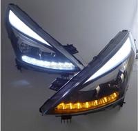 DLAND 2008-2012 TEANA ANGEL EYE HEADLIGHT ASSEMBLY V2, WITH R8 LED TEAR EYE AND Q5 BI-XENON PROJECTR, FOR NISSAN