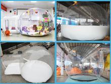 2015 Hot venda tenda bolha inflável clara tenda bolha tenda bolha para acampamento ao ar livre evento tenda bolha