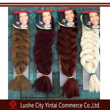 Nigerian Quality Soft Braid Hair Extensions Piece Twisted Big Braid Ponytail,Xpression hair braids