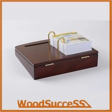 wooden calendar stand with printed paper calendar