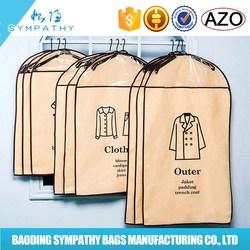 foldable non woven garment bag for suit cover,mens suit garment bags