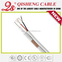 Quality assurance kx6+2c cctv cable, rg59 shotgun 20awg 18/2 dvr camera cable, rg59+2c siamese cable