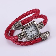 2015 fashion watch steam punk Italy vintage style women dress Snake bracelet watch square Roman numbers female quartz watches pi