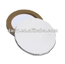 Round Stretched canvas ( staple on back )